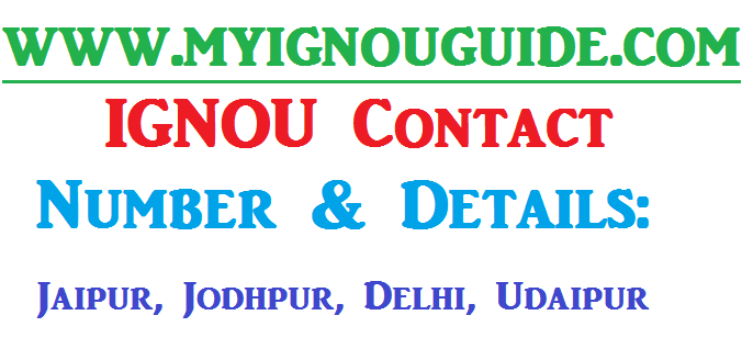 IGNOU Contact Number & Details