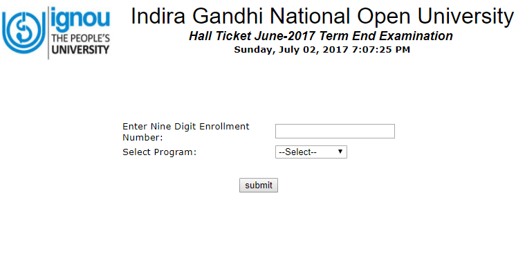 IGNOU June 2018