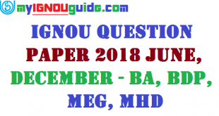 IGNOU Question Paper 2018