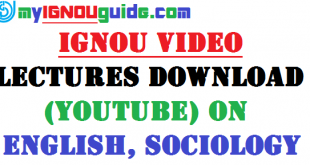 IGNOU Video Lectures