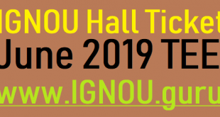 IGNOU Hall Ticket June 2019