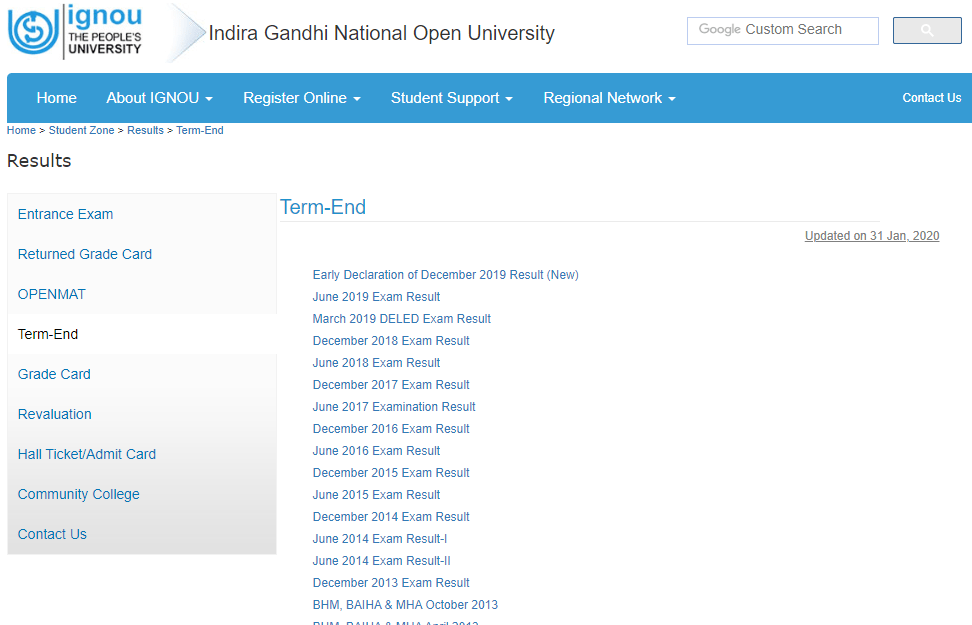 IGNOU June 2020