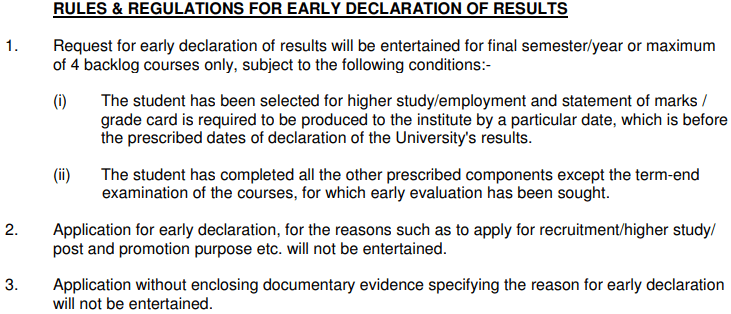 IGNOU Early Declaration of Results